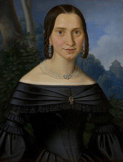195: J. Eggart (Scuola europea del XIX secolo) Ritratto