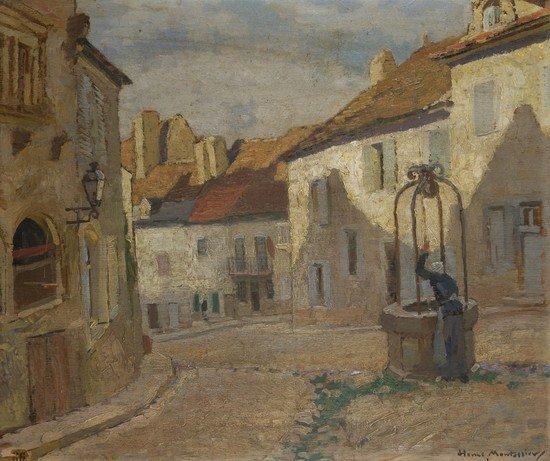 196: Henri Montassier (1880 - 1946) Al pozzo