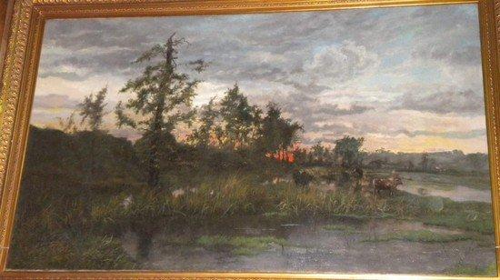 198: Charles Warland (Scuola europea XIX-XX secolo) Tra