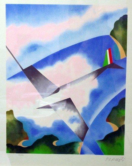 215: Osvaldo Peruzzi (Milano 1907 - 2004) Volo sulle nu