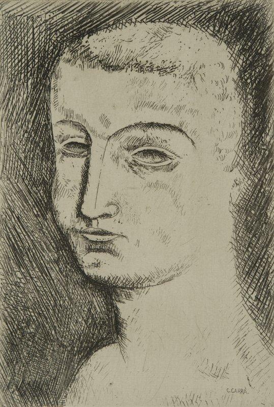 11: Carlo Carrà (Quargnento,1881 - Milano,1966) Testa