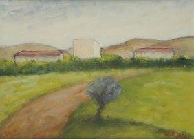 Ottone Rosai (Firenze 1895 - Ivrea 1957) Paesaggio