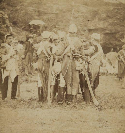 17: Luigi Primoli (1858-1925) Untitled (Soldiers), ca.