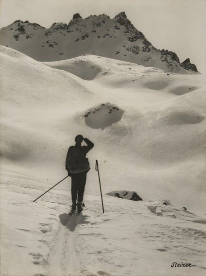 20: Albert Steiner (1877-1965) Untitled (Mountains), c