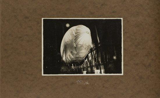 22: Airships, photo album, ca. 1917