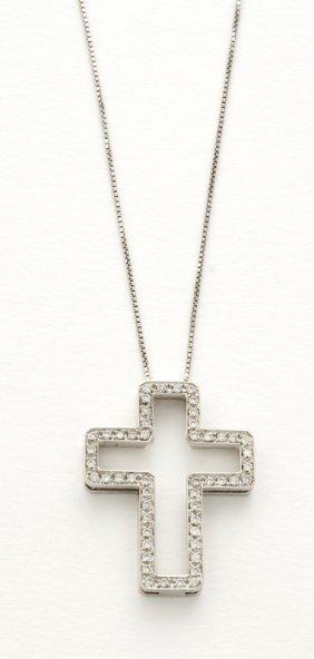 Croce In Oro Bianco 18 Kt