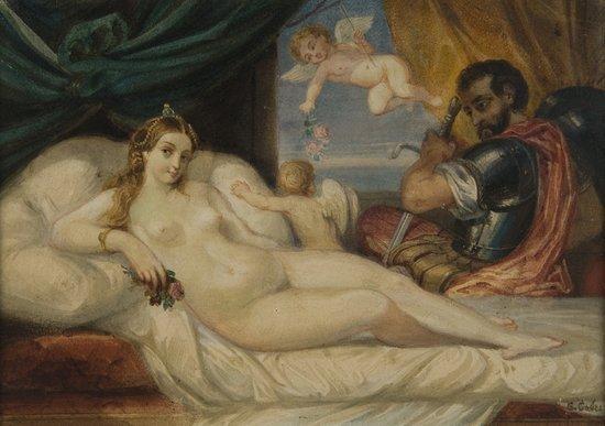 4: Scuola italiana, secolo XIX Venere e Marte