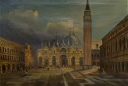 12 Maniera di Antonio Canal detto il Canaletto Piazz