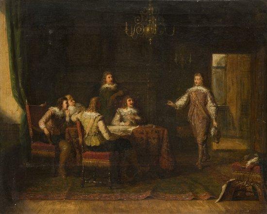 16: Scuola inglese, secolo XIX Una notizia attesa