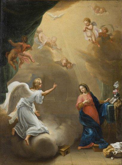 22: Scuola fiamminga, secolo XVIII Annunciazione
