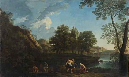 94: Andrea Locatelli  (Roma 1695 -  1741) Paesaggio la