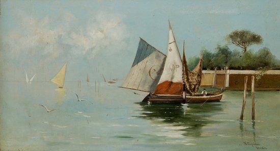 13: Nazzareno Cipriani (Roma 1843 - 1923)  Venezia, ve