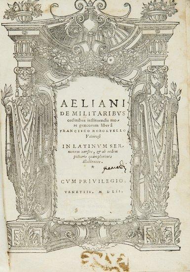 2: Aelianus, Tacticus De militaribus Ordinis Institue
