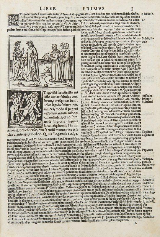 32: Apuleio Apuleius cum commento Beroaldi & figuris n