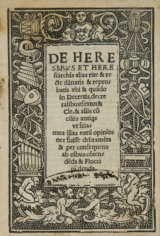 314: Eresia - [Canofilo, Benedetto] De heresibus et her