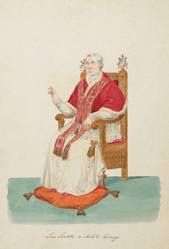 448: Illustrato - Costumi papali Costumex pontificaux.