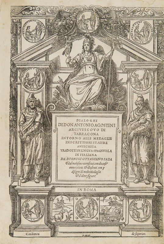 725: Numismatica - Agostini, Antonio  Dialoghi di D.Ant