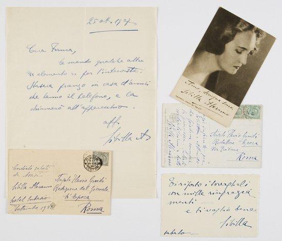 1: Aleramo, Sibilla Lettera autografa firmata