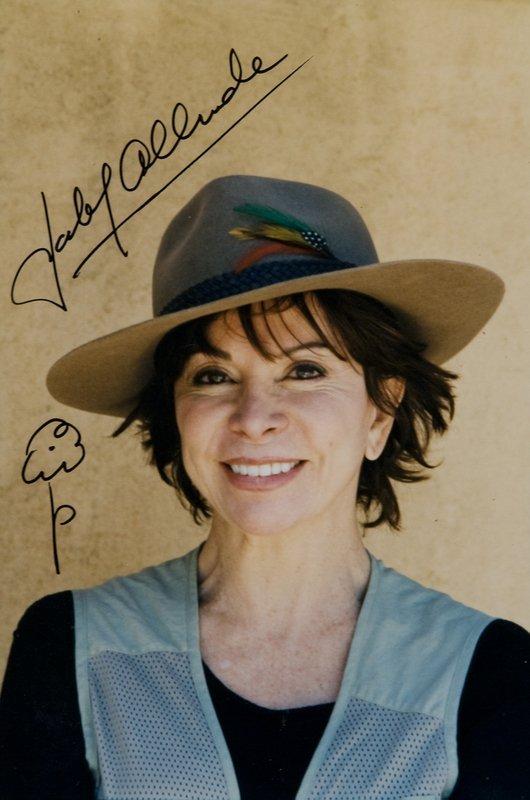 3: Allende, Isabel Fotografia autografata