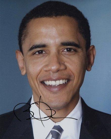 11: Barak, Obama Fotografia firmata.
