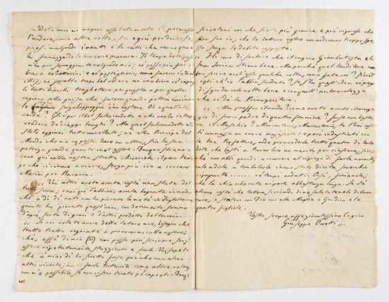 12: Baretti, Giuseppe Lettera autografa firmata