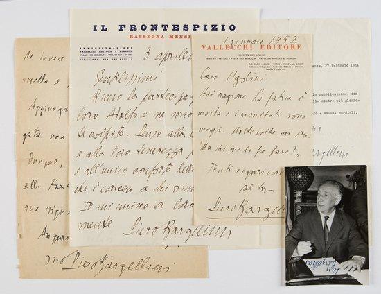 13: Bargellini, Luigi Lettere autografe
