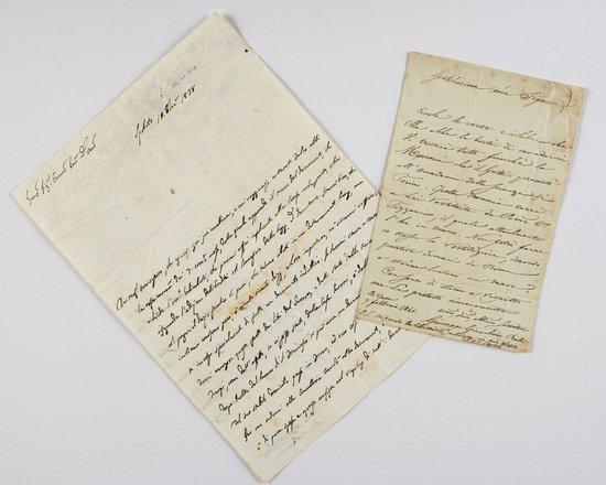 14: Belli, Giuseppe Gioacchino Lettere autografe firma