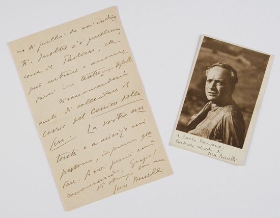 16: Benelli, Sem Lettera autografa firmata