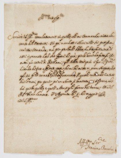 22: Boccalini, Traiano Lettera autografa firmata