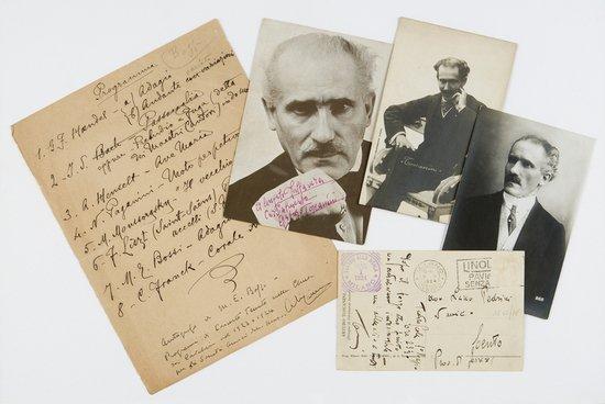 362: Toscanini, Arturo ed Enrico Bossi Cartolina autogr