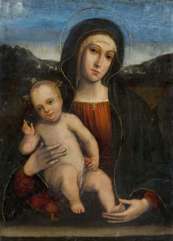 17: Maniera di Giovanni Bellini Madonna con Bambino