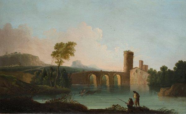 22: Scuola romana, inizi secolo XIX Ponte Milvio a Roma
