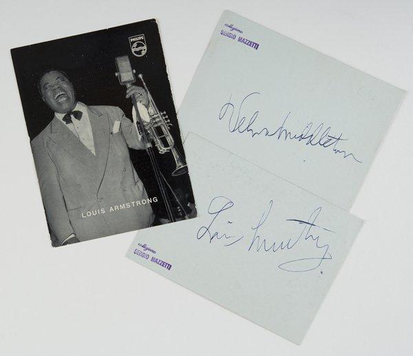 4: Armstrong, Louis Autografi su cartoncino