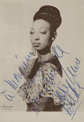 5: Baker, Josephine  Foto cartolina postale con dedica