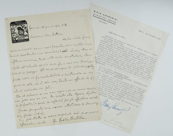 6: Balilla Pratella, Francesco e Bixio Cherubini Letter