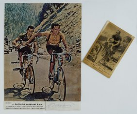 7: Bartali, Gino Fotocartolina autografata