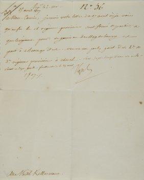 Bonaparte, Napoleone  Lettera Firmata