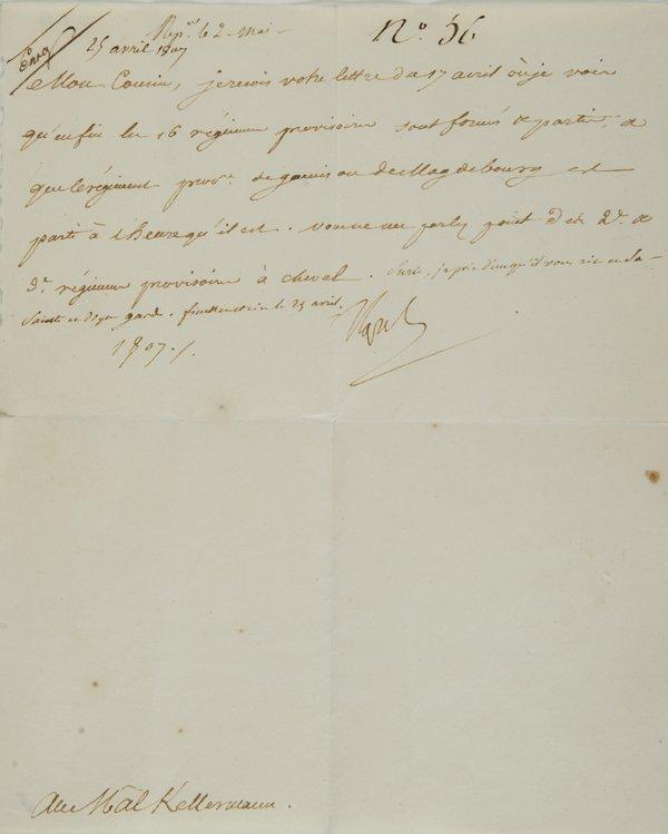 10: Bonaparte, Napoleone  Lettera firmata