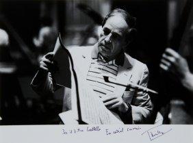 12: Boulez, Pierre Fotografia autografata