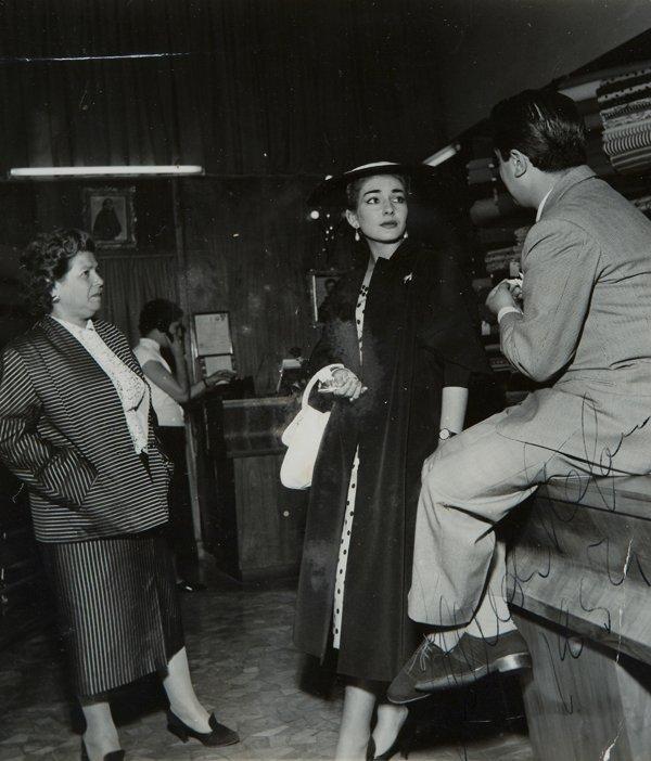 18: Callas, Maria e Giuseppe Di Stefano Fotografia con