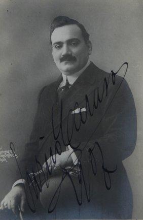 21: Caruso, Enrico Fotocartolina autografata