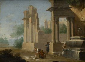 Cerchia Di Hendrick Frans Van Lint (Antwerp 1684 � R