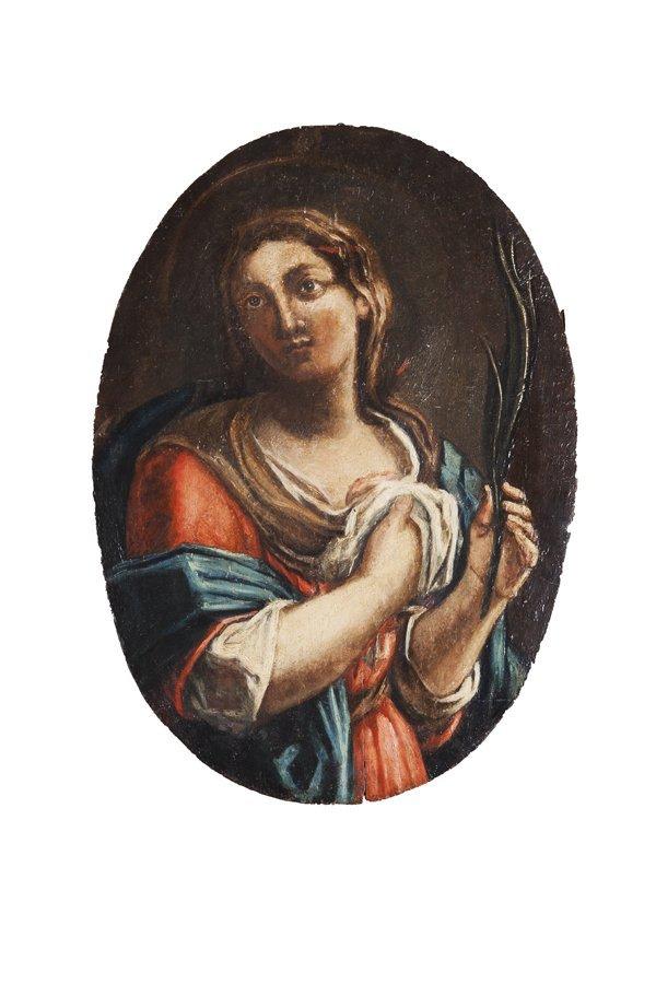 Pittore popolare, secolo XIX Due Sante