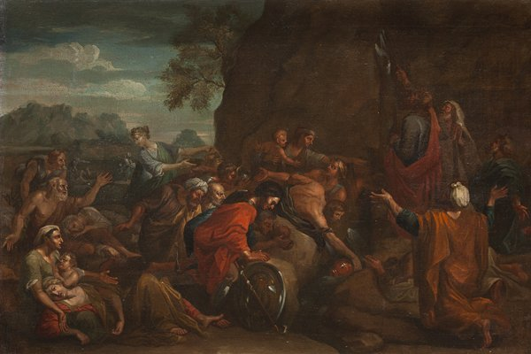 Attribuito a Lucio Massari (Bologna 1568 - 1633) Mosè f