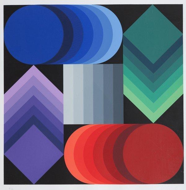 Victor Vasarely (Pécs 1906 – Parigi 1997) Composizione
