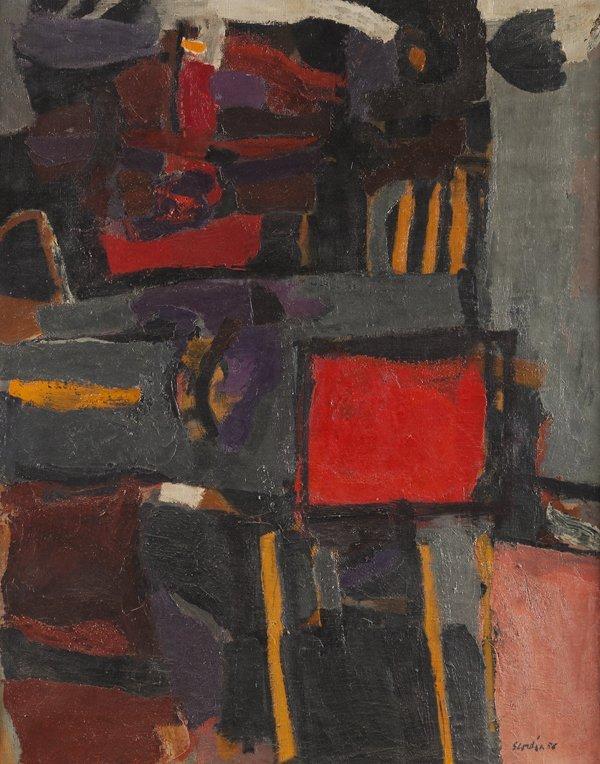 Antonio Scordia (Santa Fe 1918 - Roma 1988) Interno ros
