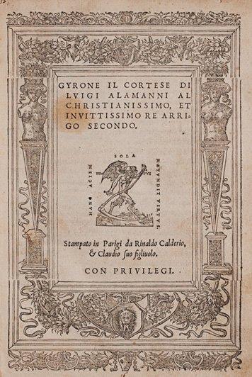 Alamanni, Luigi Gyrone il cortese
