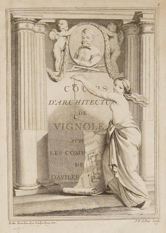 Architettura - D'Aviler, Augustin-Charles  Cours d'Arch