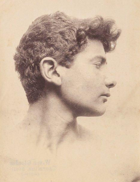 Wilhelm von Gloeden (1856-1931) Portrait of a young man
