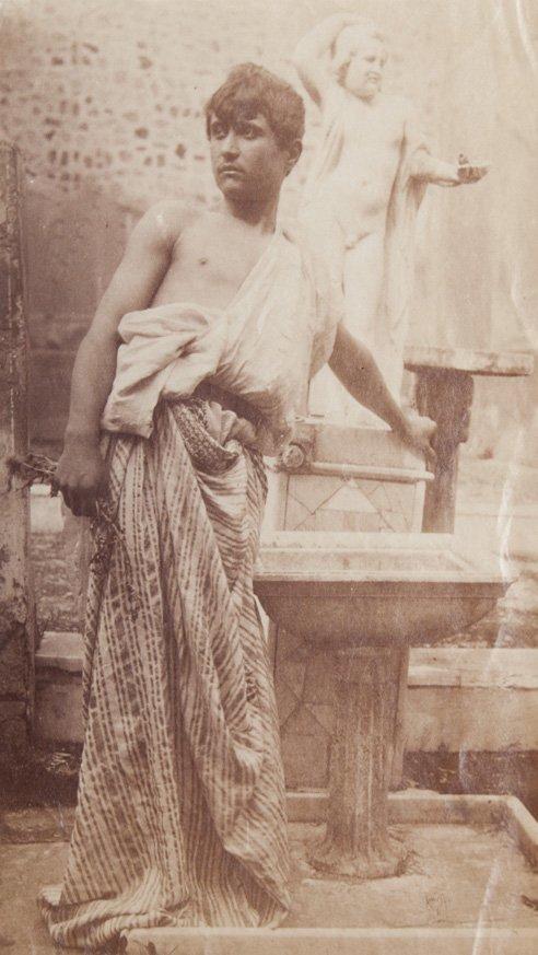 Guglielmo Von Pluschow (1852-1930) Boy in toga, ca. 190